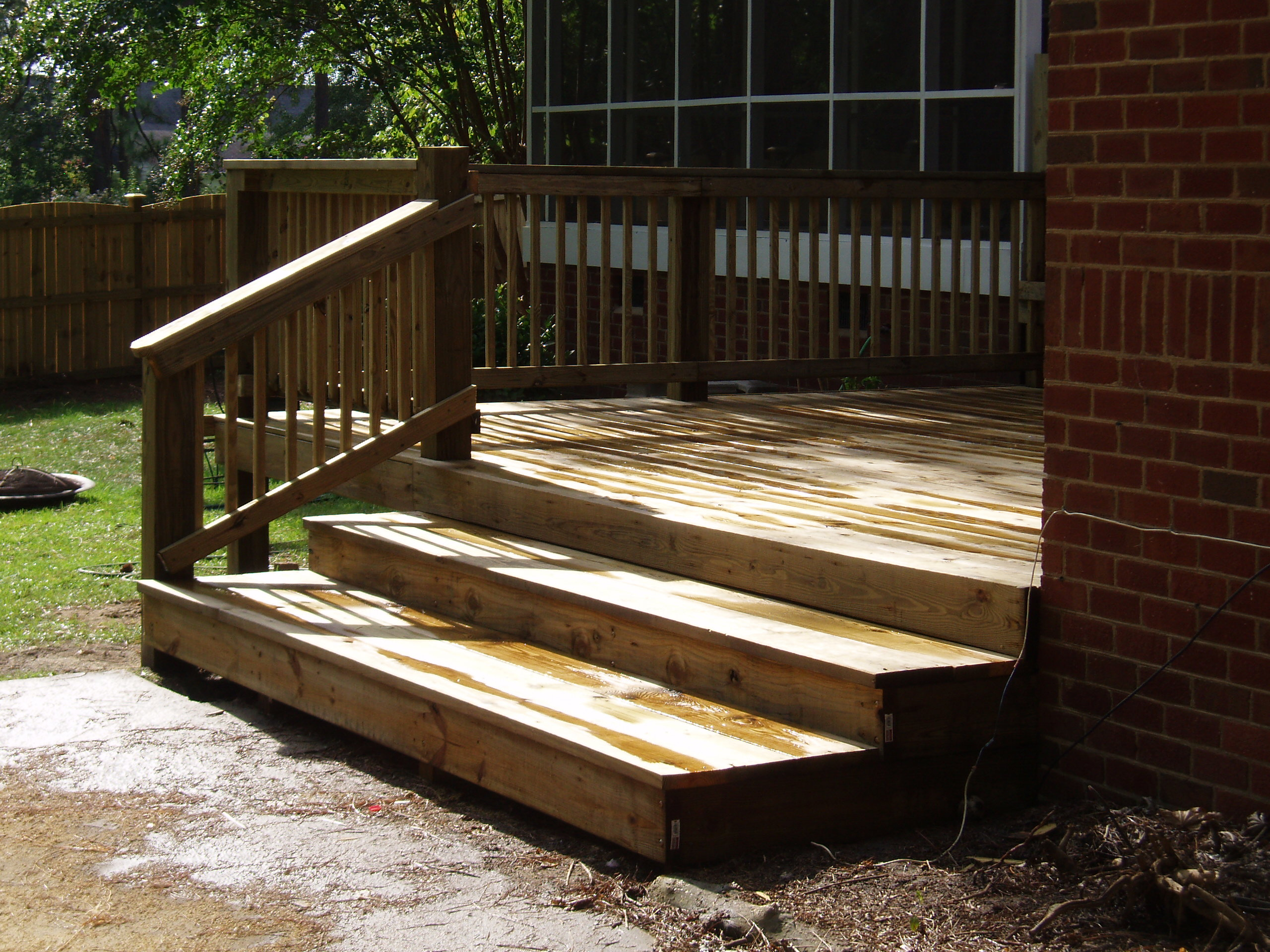 Custom decks columbia sc all american fence services for All american exterior solutions